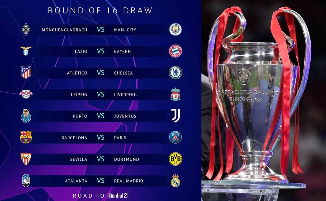 Champions League round of 16 draw: Barcelona v PSG ...