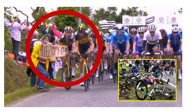 Cycling: Spectator who caused Tour crash still at large