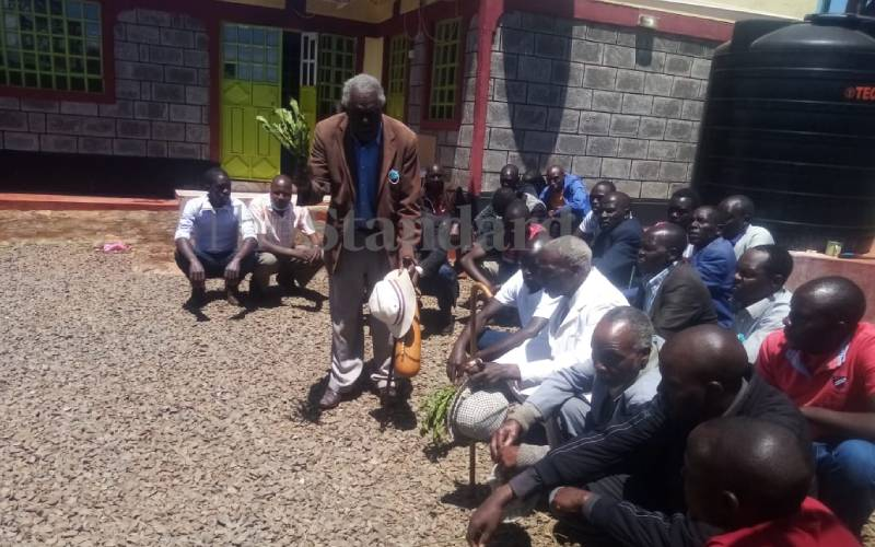 Elders conduct cleansing ceremony in Agnes Tirop's house