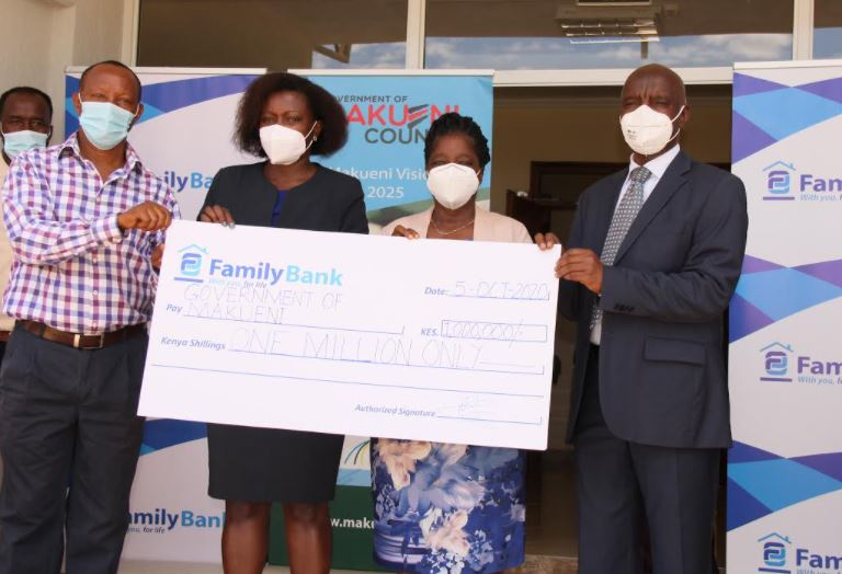 Family Bank donates Sh1 million cancer equipment to Makueni County