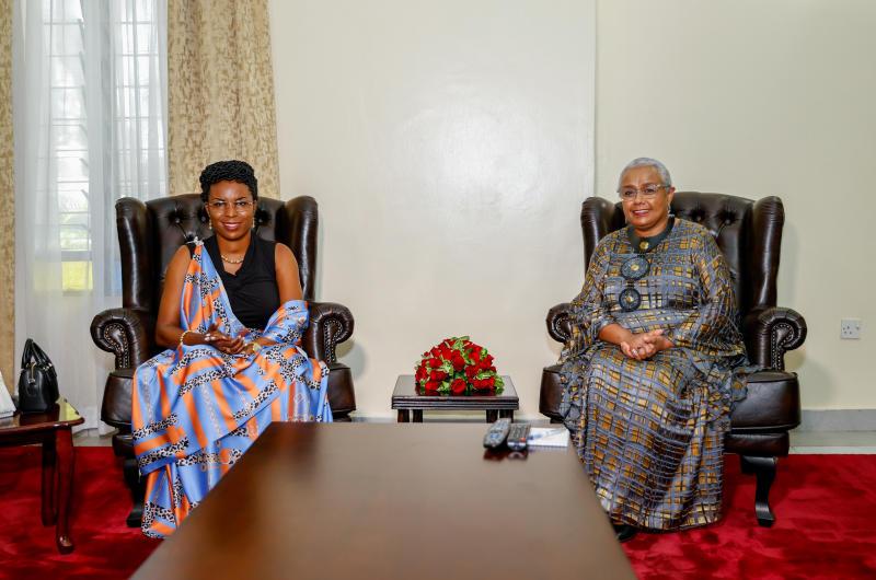 First ladies Margaret Kenyatta, Angeline Ndayubaha join nurses to mark their week