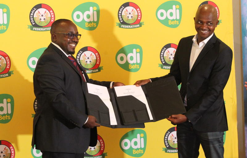Football Kenya Federation unveils gaming firm Odibets as Harambee Stars partners
