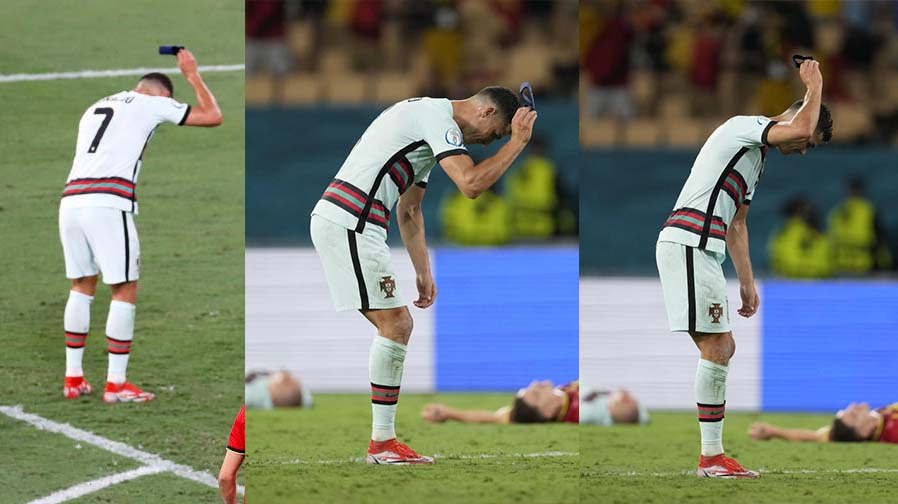 Furious Ronaldo throws armband in rage as Portugal dumped out of Euro 2020