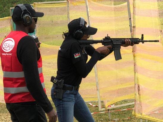 Irene Ndunda of KDF shines at the ladies-only shooting championship