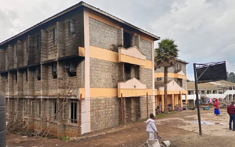 Kambaa, Gitweku girls secondary school dorms catch fire