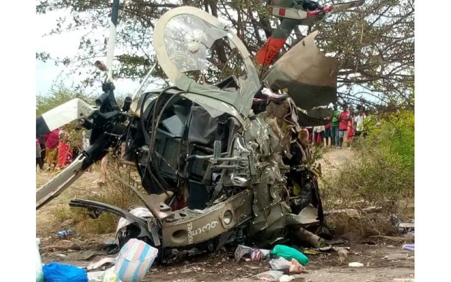 Kenya Army chopper crashes in Masinga killing two soldiers