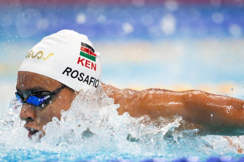 Kenyan swimmer Rosafio improves his personal best time