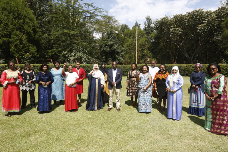 Baringo Senator Gideon Moi during a meeting with women leaders led by Kirinyaga Governor Anne Waiguru at his Kabarak home (Photo: Kipsang Joseph, Standard)