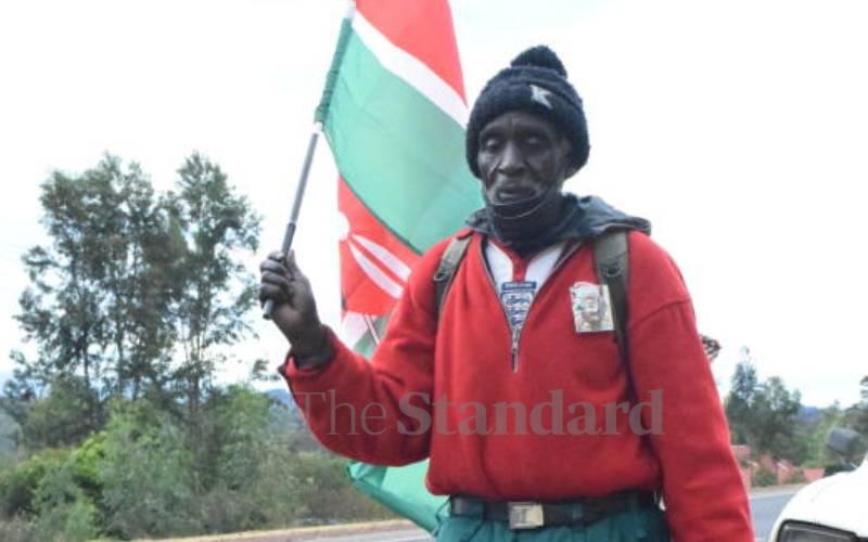 Man, 67 treks fourth time to Mashujaa fete