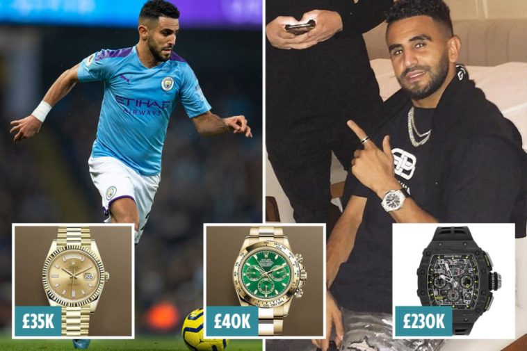 Manchester City's Mahrez has watches worth Sh40 million stolen