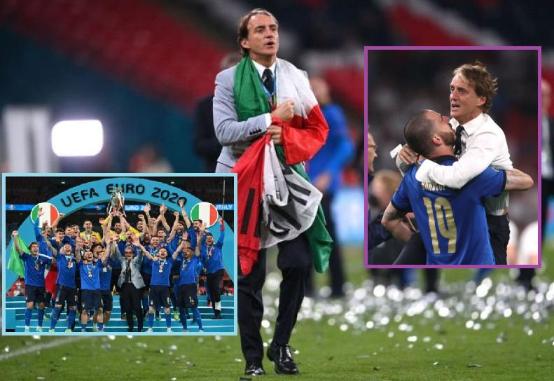 Mancini in tears over Italy's rise from rock bottom to Euro champions