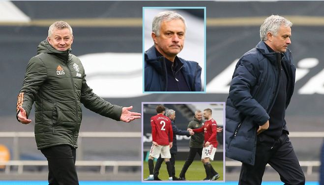Mourinho angrily blasts Ole Gunnar after Tottenham's defeat to Man United