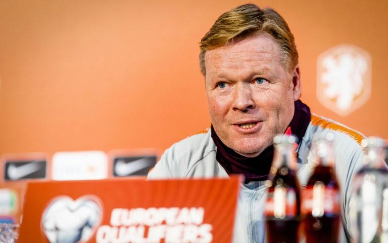Netherlands coach Koeman hospitalised with heart problem