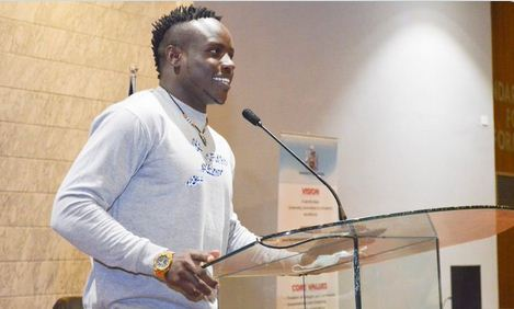 Omanyala shares experiences of perseverance and hard work with University of Nairobi students