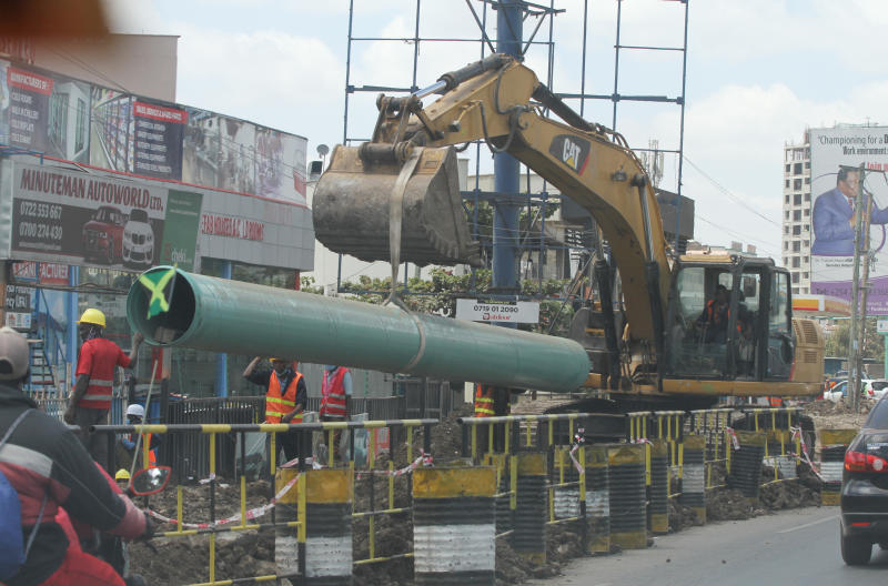 Prepare to sleep in Mombasa Road traffic during  construction works