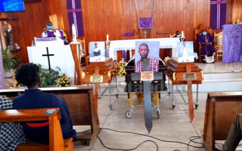 Requiem mass for Dr James Gakara and his two children