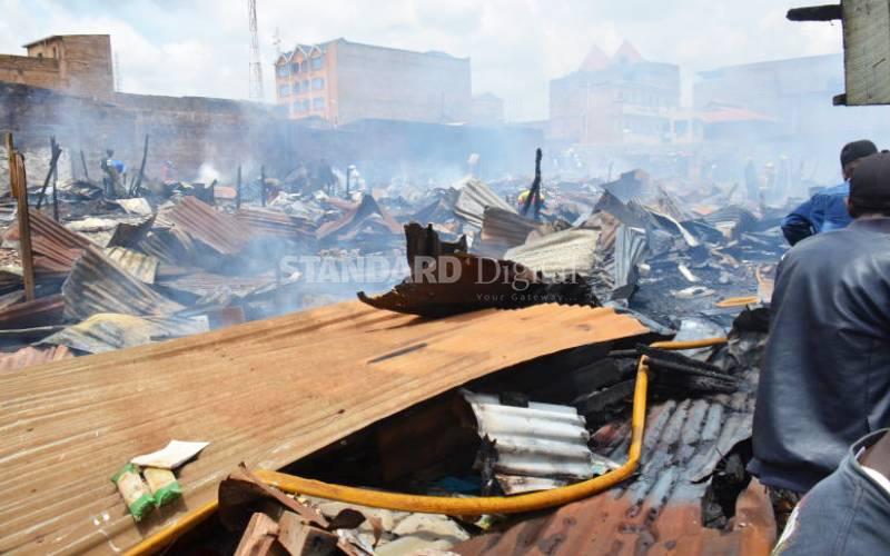 Rioting students raze down slum