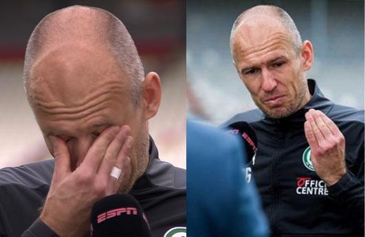 Robben bursts into tears after emotional comeback for boyhood club [Photos]