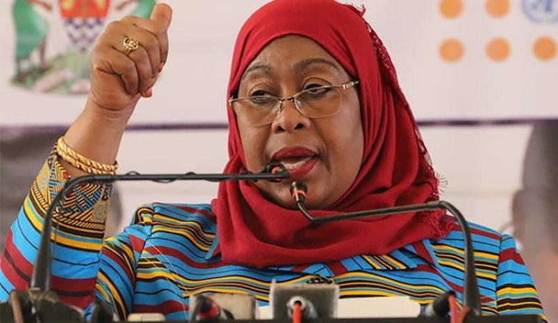 Tanzania President Samia Suluhu receives Covid-19 report