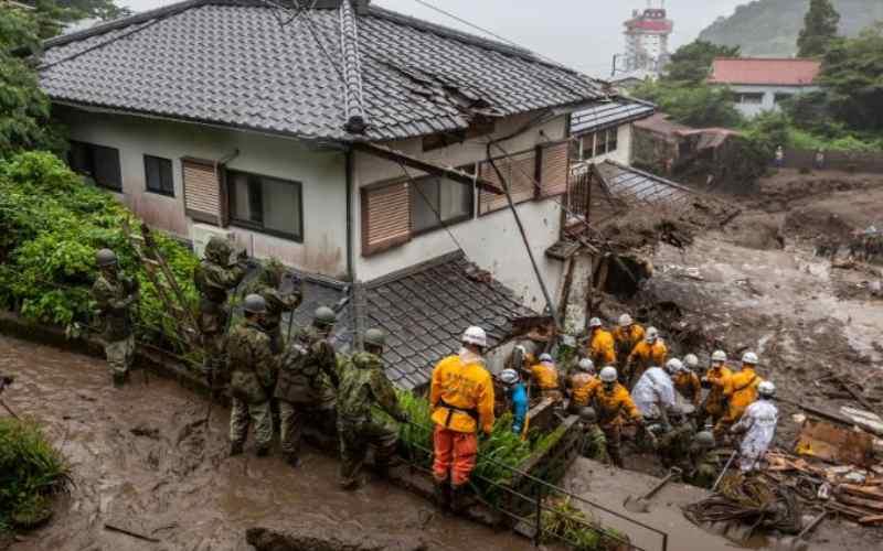Three dead, 80 missing after Japan landslide