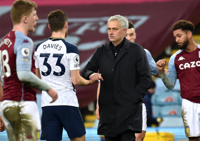 Aston Villa 0-2 Tottenham Hotspur: Tottenham end dismal week with win at Villa