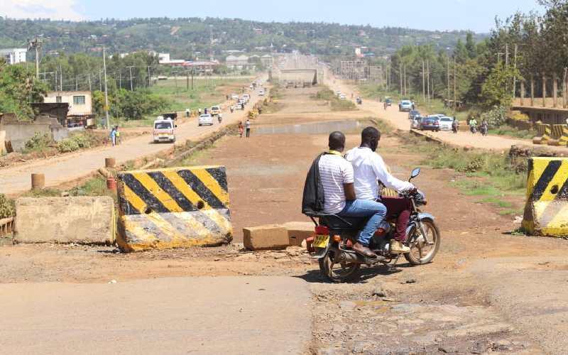 Uhuru's bumpy ride has key road repaired