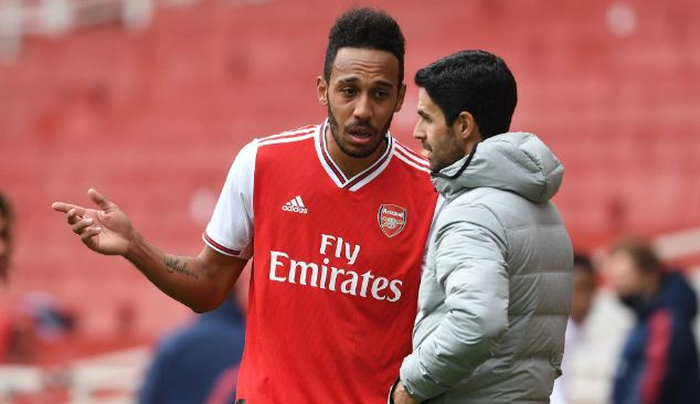 Aubameyang's patchy form not linked to new contract, says Arsenal's Arteta