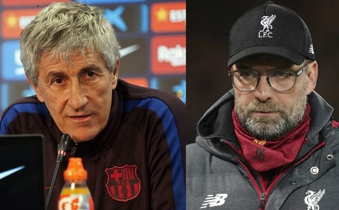 Barca coach Setien agrees with Liverpool's Klopp on coronavirus