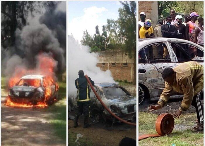Businessman's car torched after woman he was allegedly dating found dead