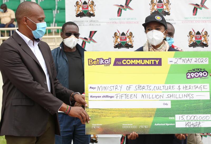 Coronavirus: Betika makes good Sh15m pledge to Sports Ministry