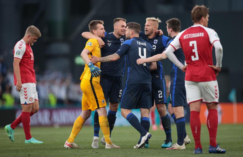 Debutants Finland beat Denmark but game overshadowed by Eriksen collapse