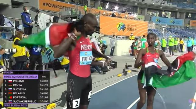 PHOTOS: Rotich, Naomi claim second position in Poland relays