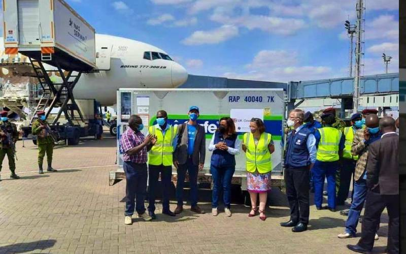 First batch of UK-given Covid vaccines arrives
