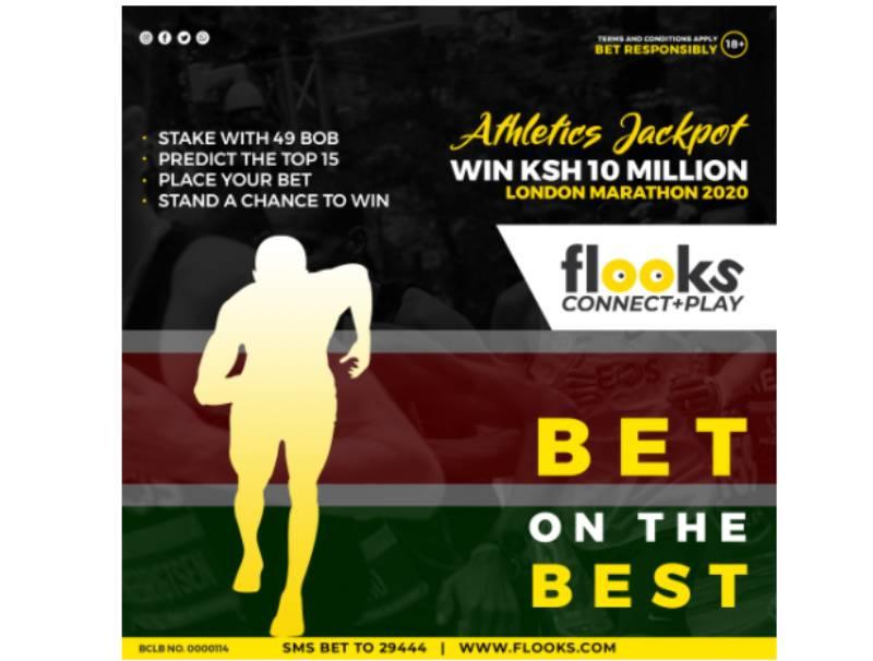 Flooks  launches first-ever Sh10M athletics jackpot on 2020 London Marathon