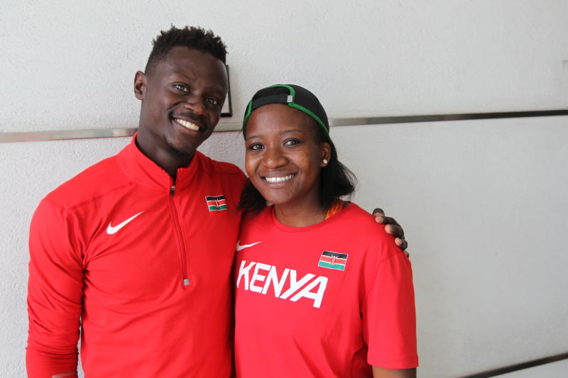 For sprinter Mark Otieno, training alone is almost business as usual