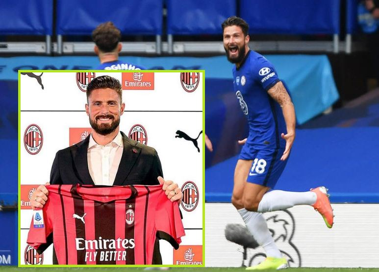 France striker Giroud thanks Chelsea fans, joins AC Milan