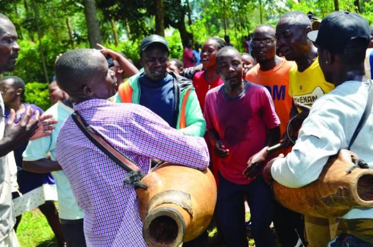 Getting rare isukuti drum skin dangerous endeavour