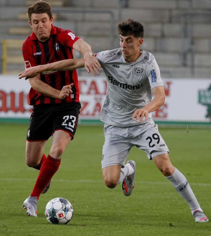 Havertz fires Leverkusen third with Freiburg winner