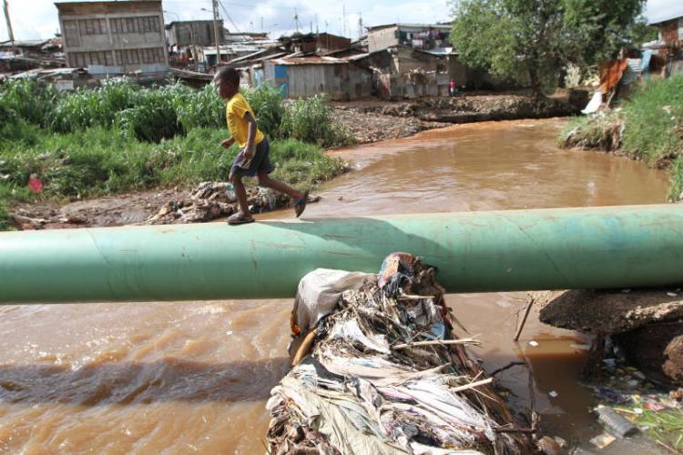 How Sh6b went down drain in an uphill sewer line