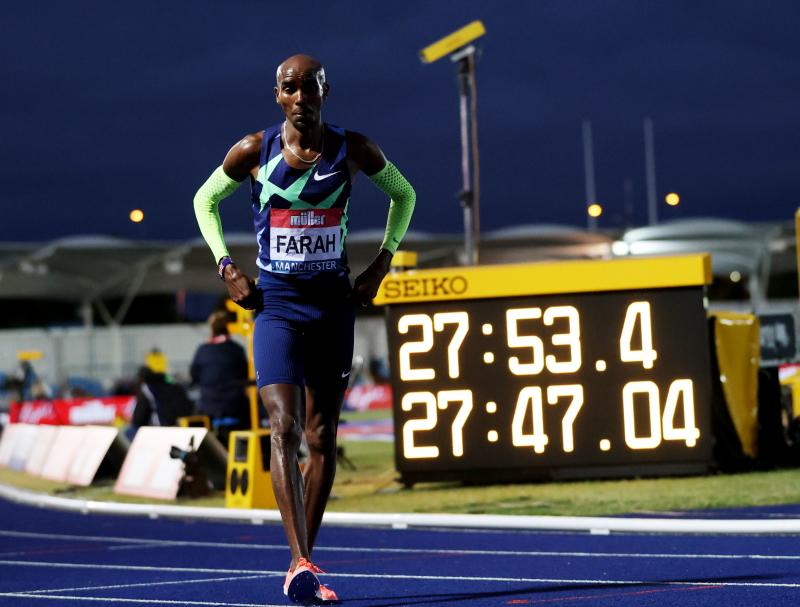 Mo Farah misses qualifying time for Olympic Games