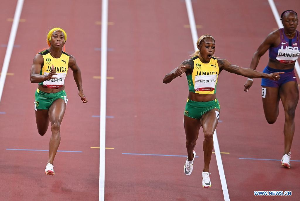 Jamaica sweeps women's 100m medals at Tokyo Olympics