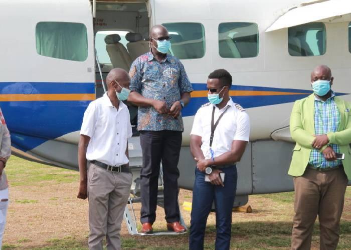 Joy as air transport resumes in Homa Bay