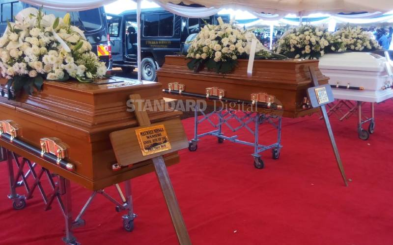Karura bloodbath victims laid to rest [Photos]