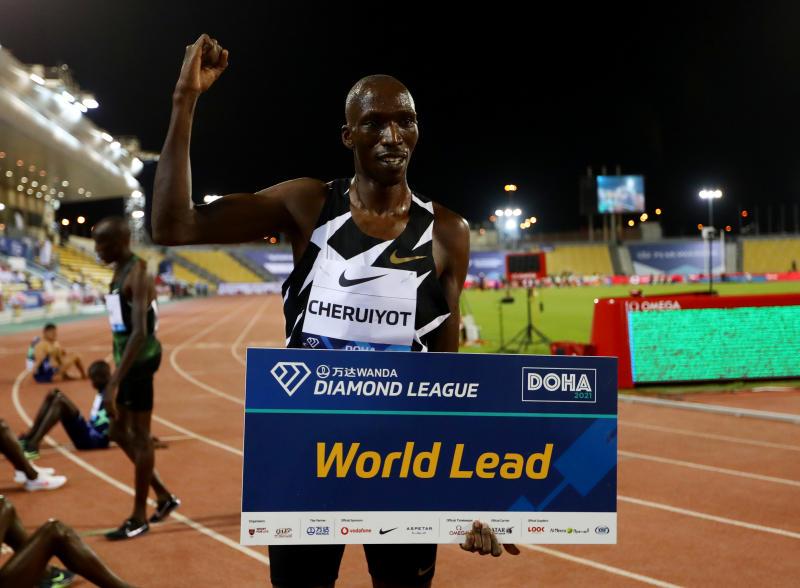 Kenya's Cheruiyot, Kipyegon shine at Doha Diamond League