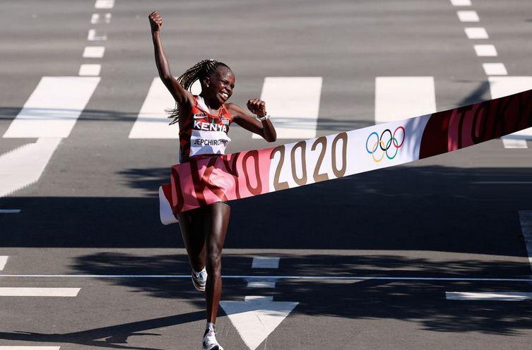 Kenya's Jepchirchir wins women's marathon gold, Brigid Kosgei finishes second