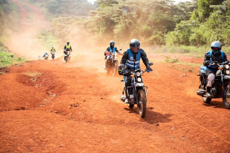 Kibo Africa give riders a treat