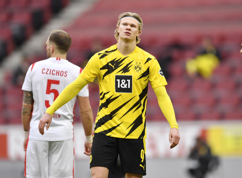 Last-gasp Haaland gives Dortmund 2-2 draw at Cologne