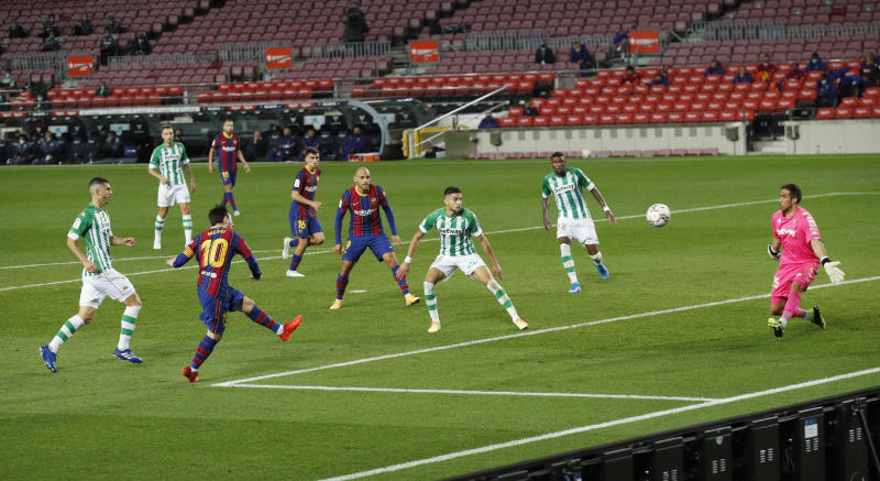 Messi scores brace, assists against Betis after starting on bench
