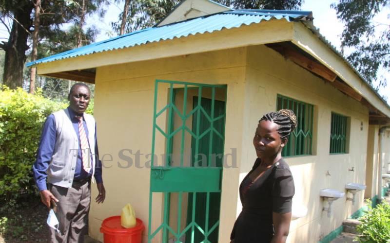 Modern toilets,  free sanitary pads help keep girls in school