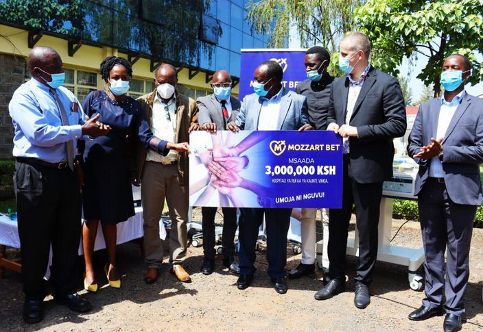 Mozzart donates equipment worth Sh 3 million to vihiga County Referral Hospital